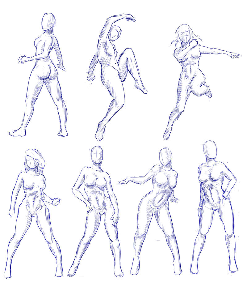 Female Gesture Practice by Caynez on DeviantArt