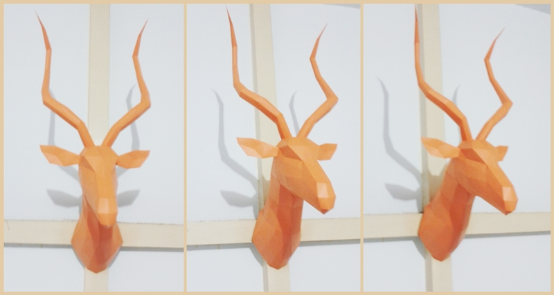 impala head papercraft free model by nandablank