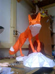 red fox papercraft