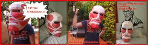 collosal titan mask papercraft