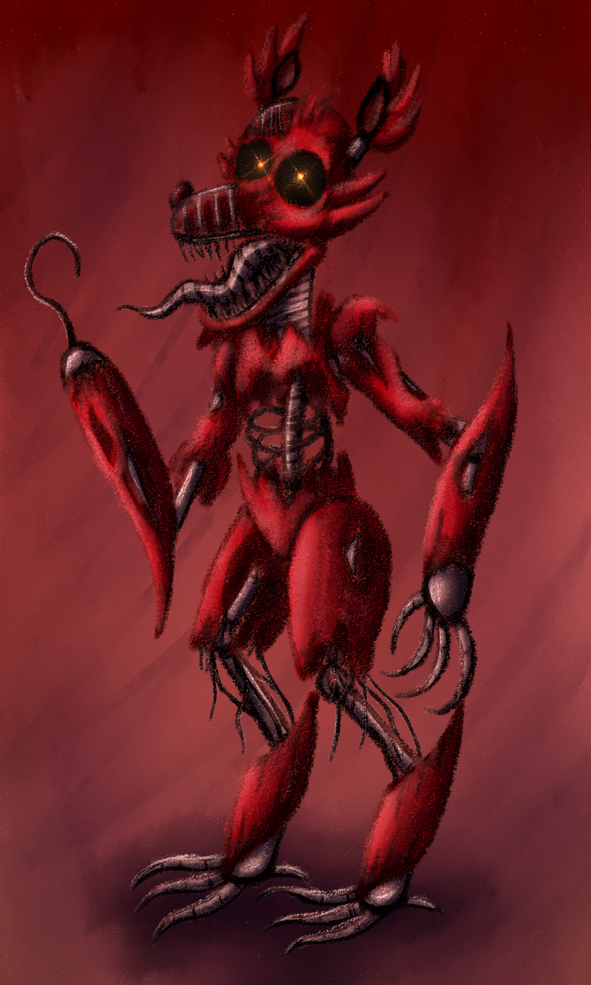 It is a picture of Modest Nightmare Foxy Drawing