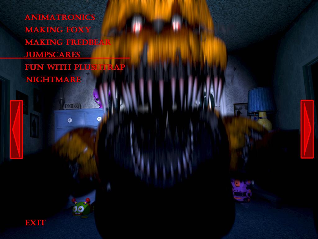 Fnaf4 nightmare fredbear jumpscare by kana the drifter