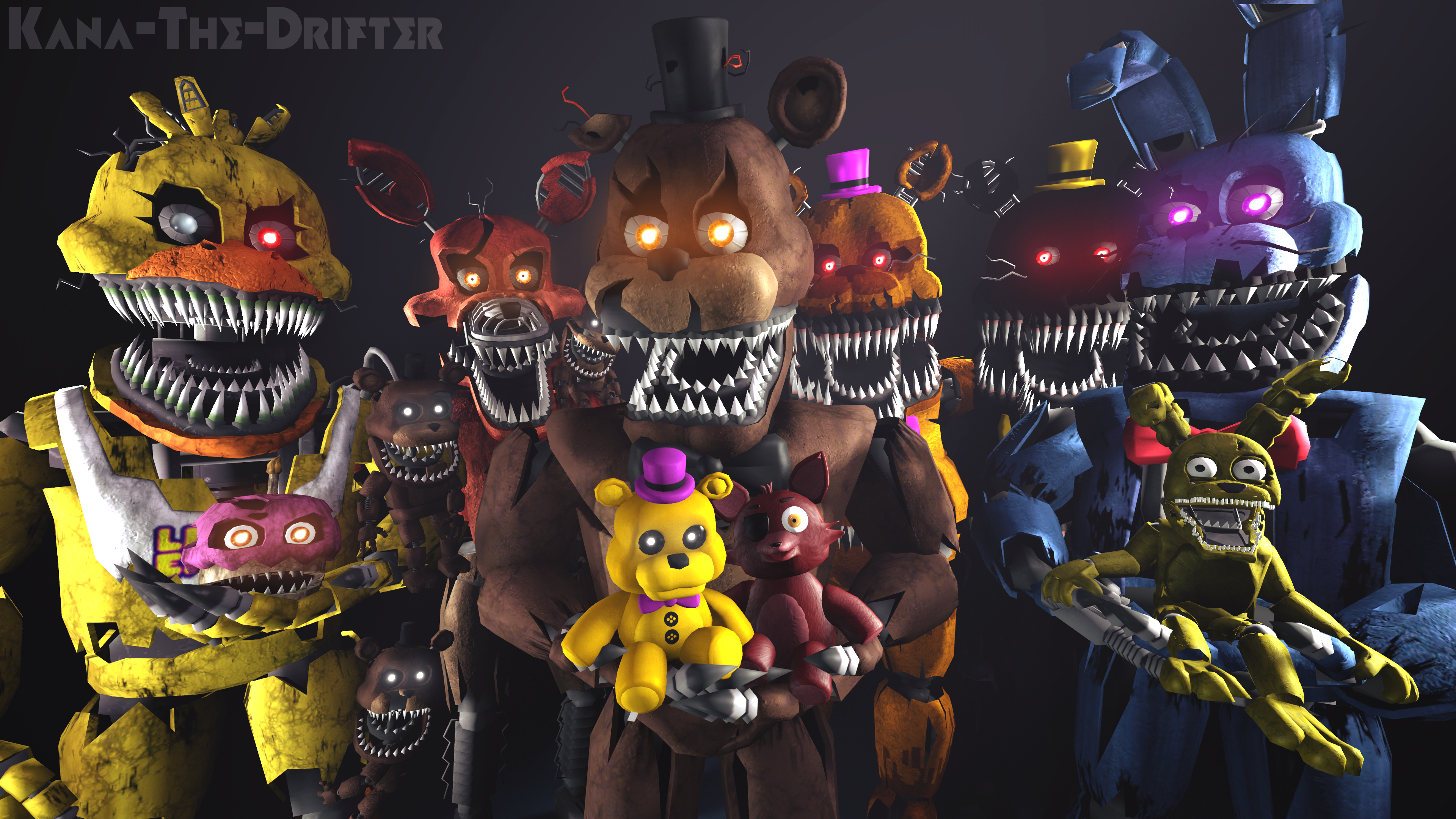 We All Are Still Your Friends (FNAF SFM Wallpaper) by Kana