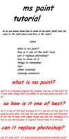 ms paint tutorial part one