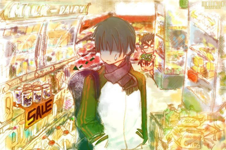 Ryoma at the supermarket by chayuki