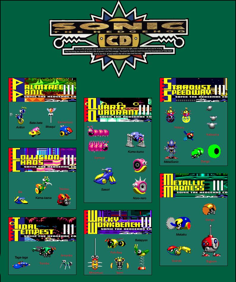 Disc By Supermaxer On Deviantart: Sonic CD : All Stars Badniks By Kodjo1 On DeviantArt