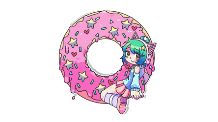 for my best friend! hania/donut