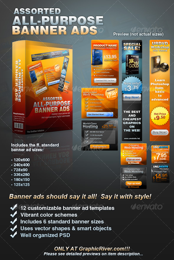Assorted All-Purpose Banner Ad Templates by bannerdesign on DeviantArt