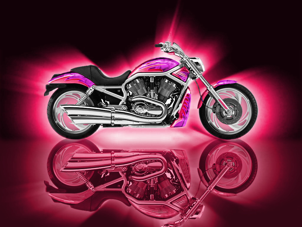 Motorbikes Pink Wallpapers