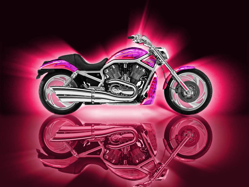 Motorbikes Pink Wallpapers