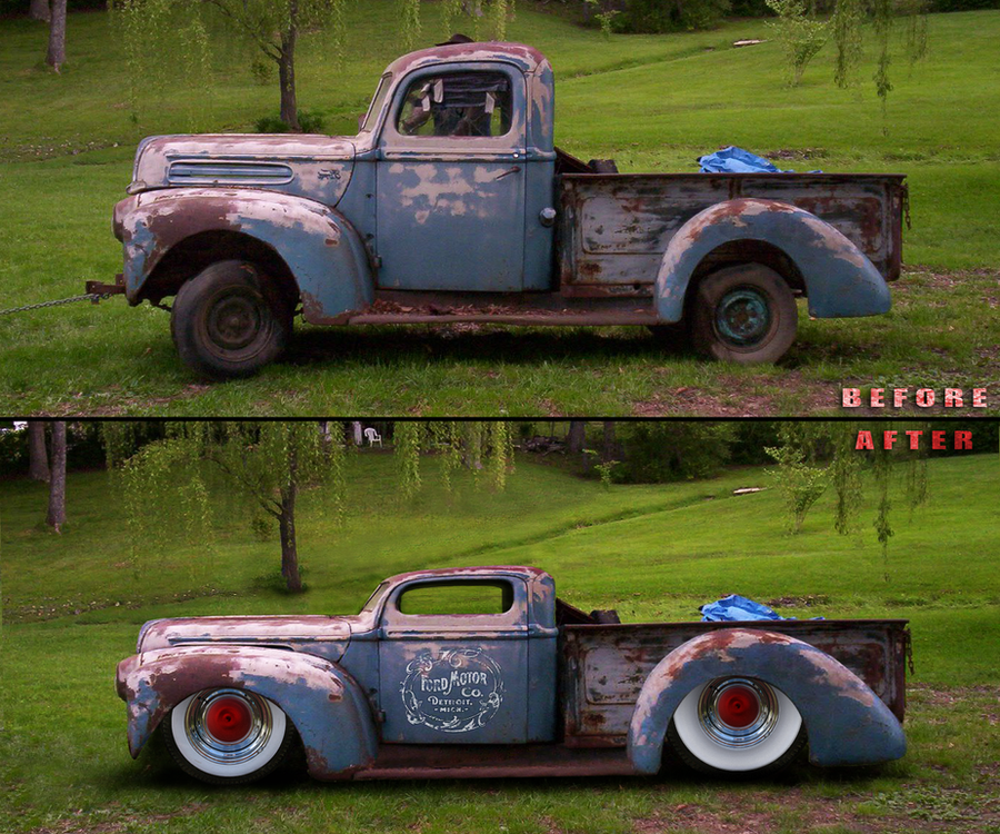 Old Ford Rat Truck by fastworks on DeviantArt