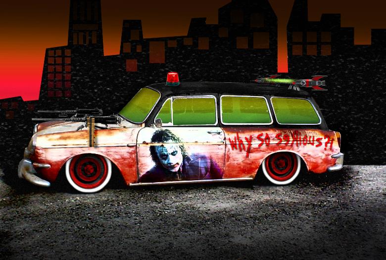 The Joker S Car By Fastworks On Deviantart