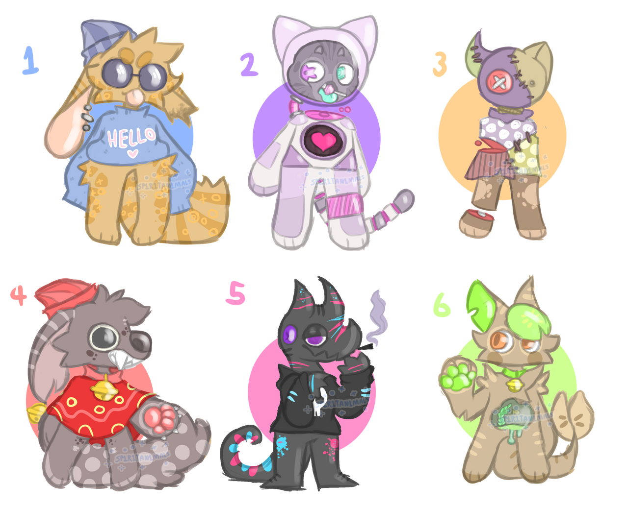 A bunch of adopts ( ONLY 6 IS AVAILABLE )