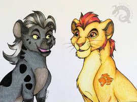 Jasiri and Kion by DigitalIguana
