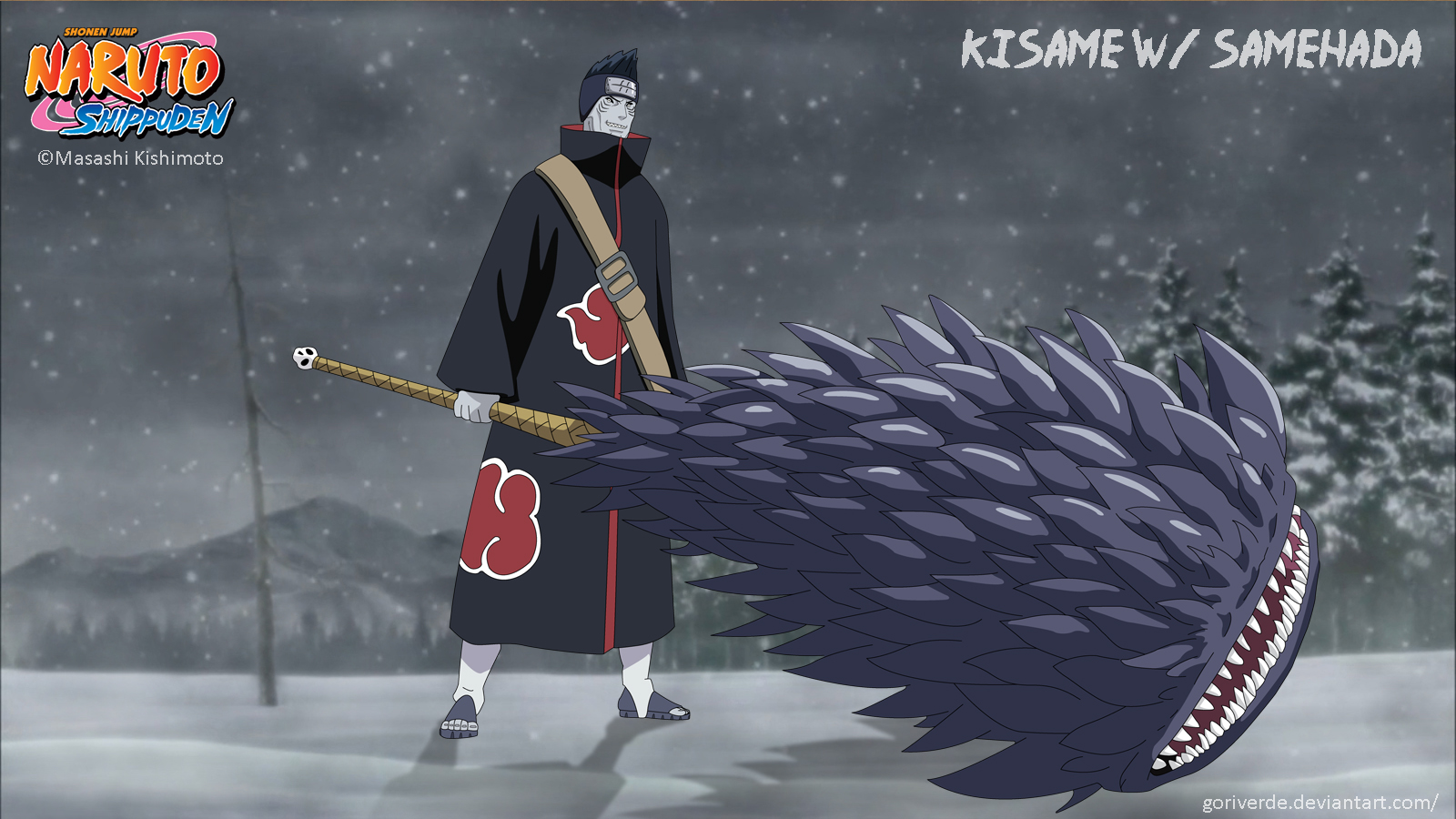 Kisame with Samehada by goriverde on DeviantArt
