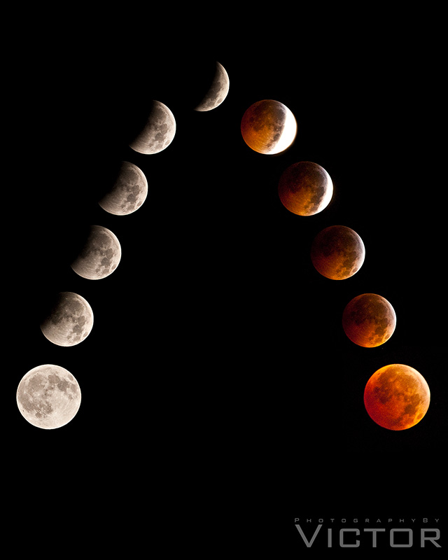 Lunar Eclipse 2 by PhotographybyVictor