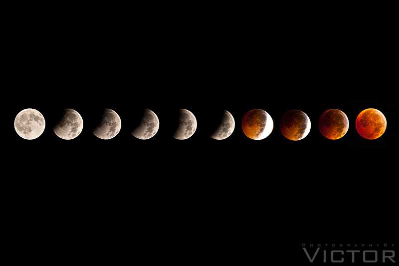 Lunar Eclipse 3 by PhotographybyVictor
