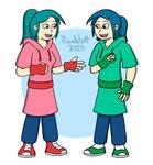 Jenny and Jessie Sunn (No glasses) by RomWatt
