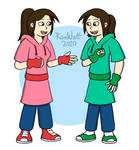Jenny and Jessie Sunn (Brown hair/No glasses) by RomWatt