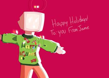 holiday card by SlightlySaltedSnail