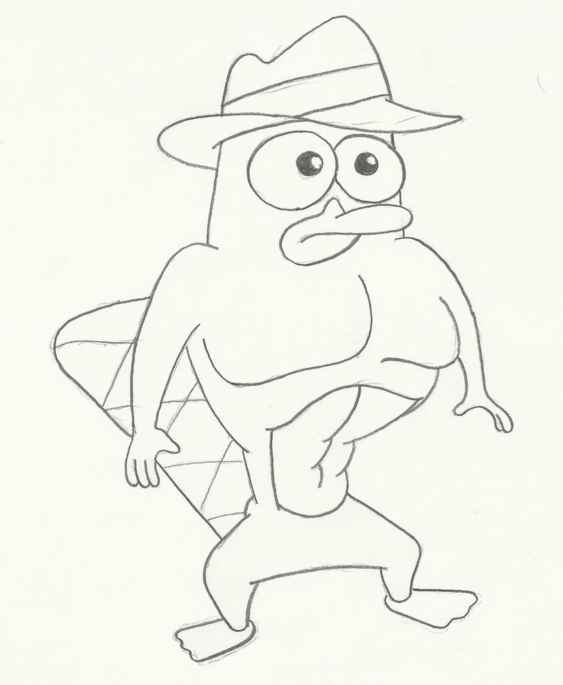 Perry The Platypus Coloring Pages Gangster Coloring Pages Perry The Platypus Coloring Pages