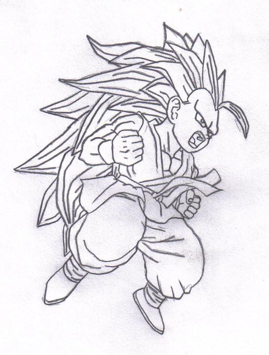 Kid Gohan Super Saiyan Drawing | www.imgkid.com - The ...