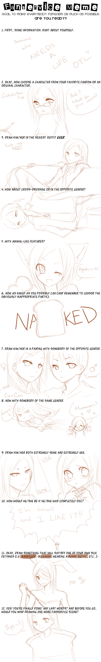 Fanservice ConCon Edition WIP by Yue-e