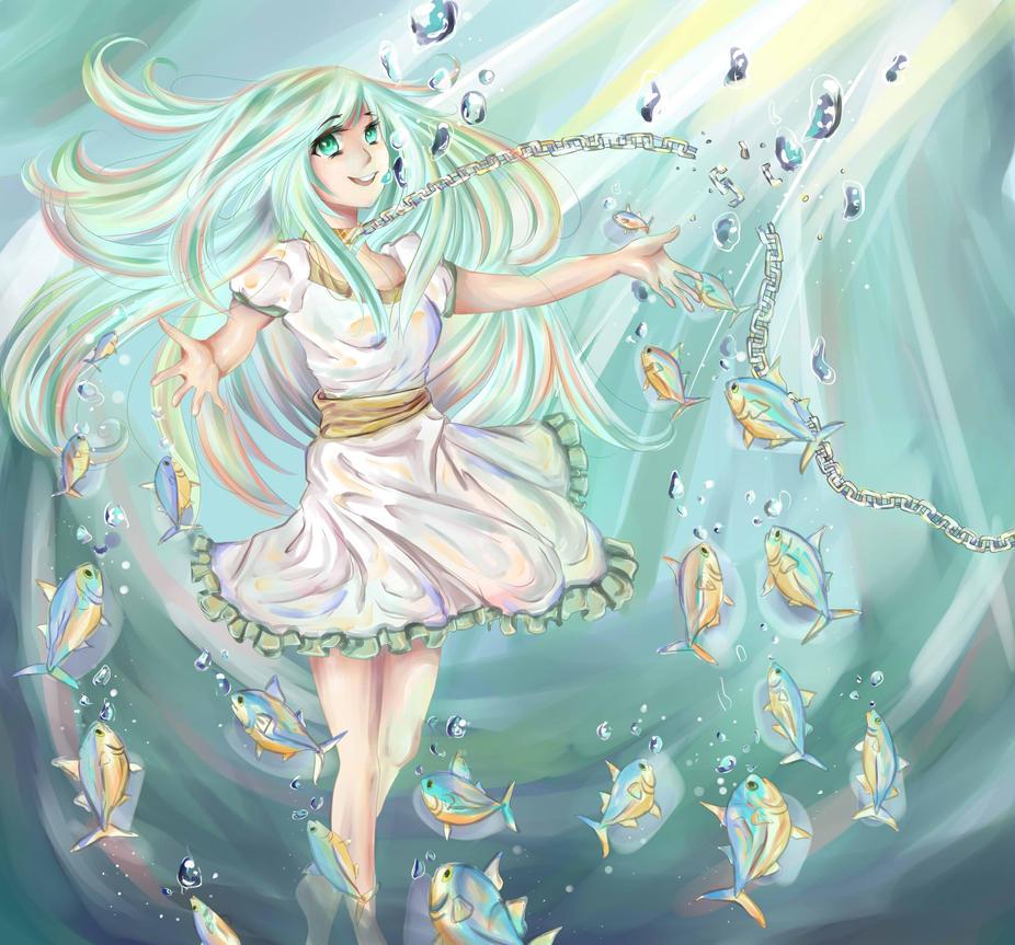 Fish Girl Sakana by Cherubii