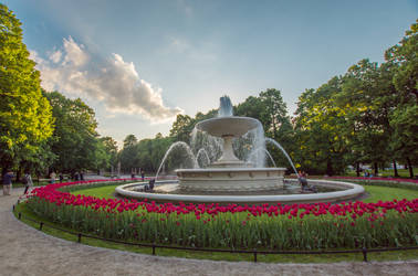 Saski Park in Warsaw, Poland