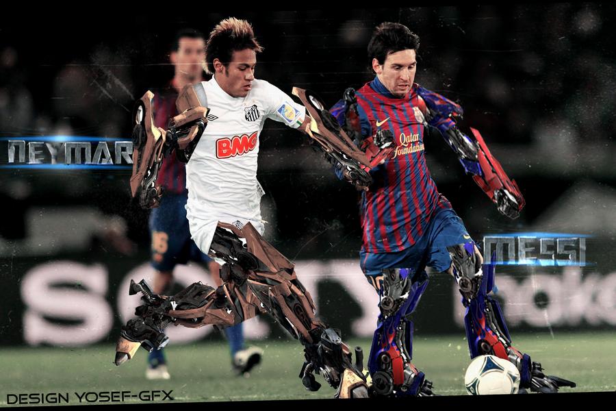 Messi Vs Neymar Transformers Wallpaper By YoSeF GfX