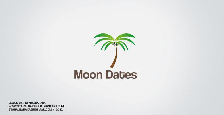 Logo Moon Dates by StarAlBaraka