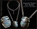 Scarab Bottle Necklace