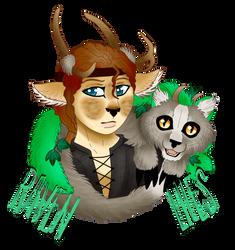 Fauni-Raven and Liles -badge