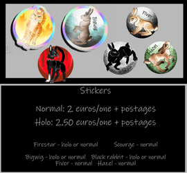 Stickers: nomal and holos