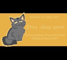 KaaoksenKorppiArt - Shop Open!