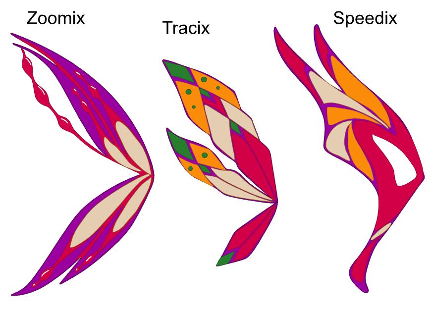 Winx Club Speedix Zoomix Tracix Zoomix  Tracix  Speedix