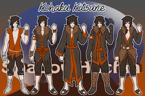 TG: Kohaku Kitsune Reference Sheet by ShadowHachia