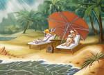 Bugs Bunny and Lola Bunny on vacation