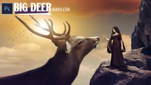 Fantasy Big Deer Photo Manipulation