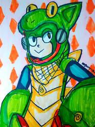 Veil Man [Megaman] (Art Trade)