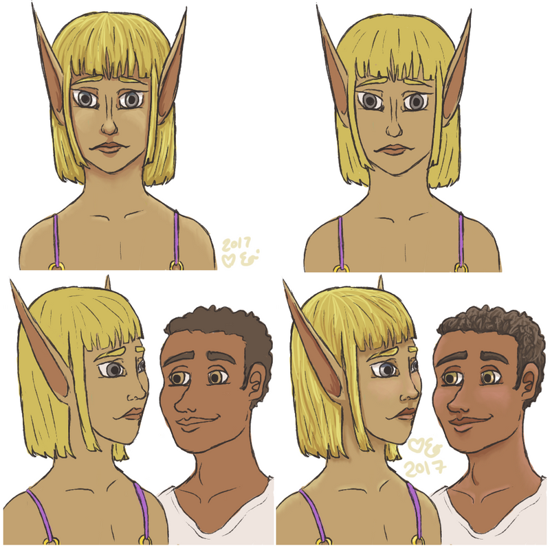 Cadoba and Solei -- OCs by Eloarei