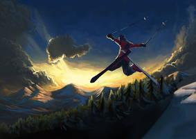 Jumping in the sun by Julien-Bernard