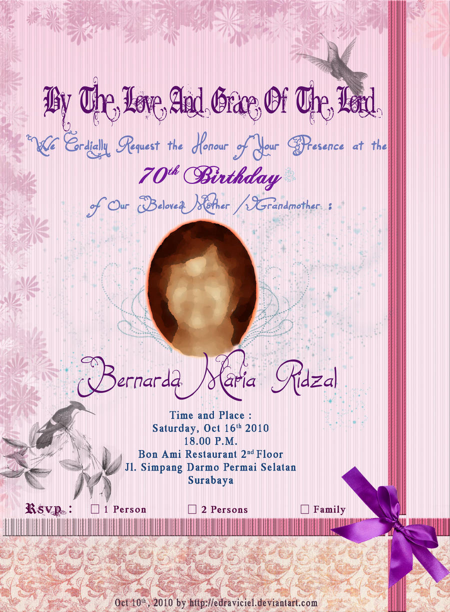 My 1st Invitation Card Design By Stefanikarin On Deviantart