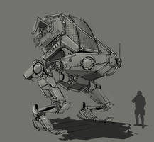 Biped Mech by vicky3