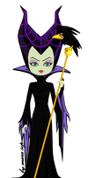 Maleficent the evil Fairy by marasop