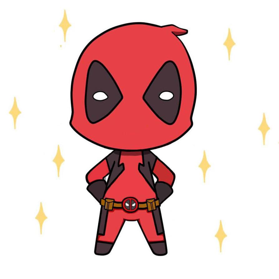 Chibi Deadpool by mamo...