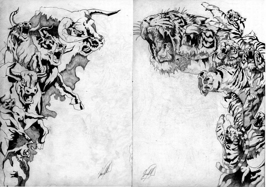 Tigre y buey by dariovarasgaete