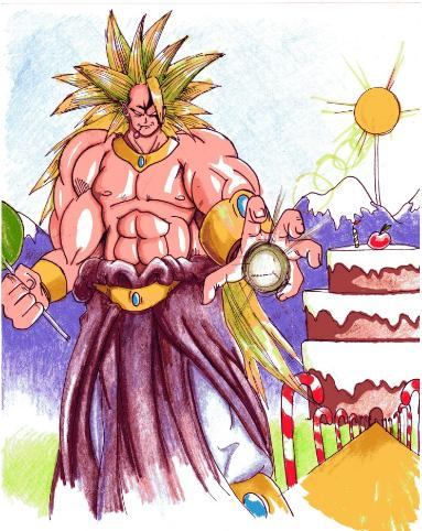 broly super saiyan forms. super saiyan 3 broly colored