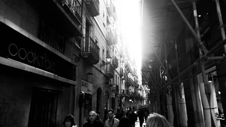 People Walking In An Alley by MC-Guire