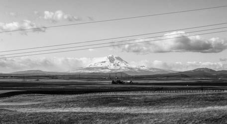Mount Adams and a Farm by MC-Guire